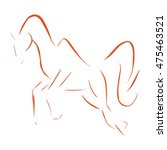the jumping horse drawing of...   Shutterstock .eps vector #475463521