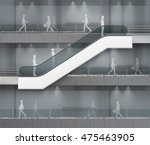 Vector Modern Escalator With...