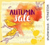 Vector Autumn Sale Banner With...