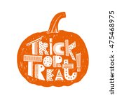 """hand drawn """"trick or treat""""... 