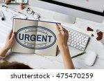 urgent important priority stamp ... | Shutterstock . vector #475470259