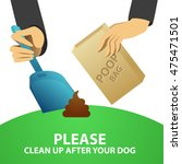 clean up after your dog. vector ...