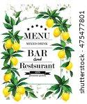 vintage hand drawn menu for... | Shutterstock .eps vector #475477801