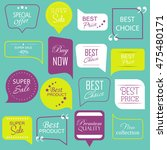 modern sale stickers collection.... | Shutterstock .eps vector #475480171