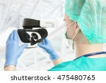 doctor with virtual reality... | Shutterstock . vector #475480765