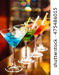 multicolored cocktails at the... | Shutterstock . vector #475486015