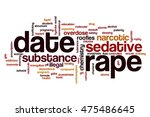 date rape word cloud concept | Shutterstock . vector #475486645