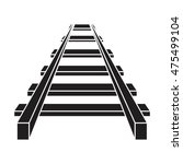 railroad vector icon   railway... | Shutterstock .eps vector #475499104