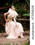 portrait of a beautiful fashion ... | Shutterstock . vector #47550028