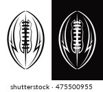 an american football ball icon... | Shutterstock .eps vector #475500955