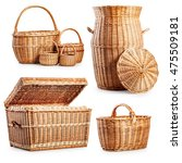 Wicker Basket  And Laundry Box...