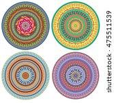 set of ornament multicolor card ...   Shutterstock .eps vector #475511539