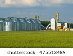grain elevator  gomel district  ... | Shutterstock . vector #475513489