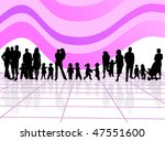 family and abstract vector | Shutterstock .eps vector #47551600