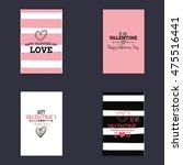 happy valentines day | Shutterstock .eps vector #475516441