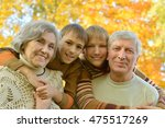 grandparents with children in... | Shutterstock . vector #475517269
