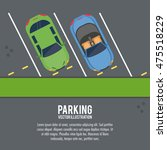 car vehicle auto parking zone... | Shutterstock .eps vector #475518229