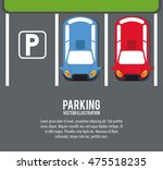 car vehicle auto parking zone... | Shutterstock .eps vector #475518235