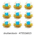 happy anniversary celebration... | Shutterstock .eps vector #475526815