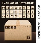 vector package constructor with ... | Shutterstock .eps vector #475528735