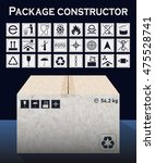 vector package constructor with ... | Shutterstock .eps vector #475528741