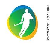 field hockey game silhouette... | Shutterstock .eps vector #475531861