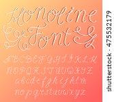 hand written   monoline font  ... | Shutterstock .eps vector #475532179