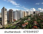 Avenue and building in Ribeirao Preto city - Sao Paulo - Brazil.
