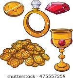 cartoon treasure jewels. vector ... | Shutterstock .eps vector #475557259