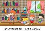 kids reading books in the... | Shutterstock .eps vector #475563439