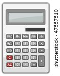 isolated calculator | Shutterstock . vector #47557510