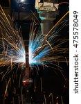 robot welding steel  | Shutterstock . vector #475578049