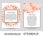 romantic invitation. wedding ...   Shutterstock .eps vector #475580419