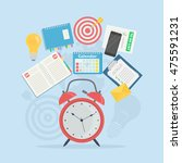 time management concept.... | Shutterstock .eps vector #475591231