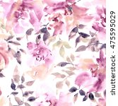 floral background. watercolor... | Shutterstock . vector #475595029