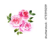 greeting card with roses.... | Shutterstock . vector #475595059