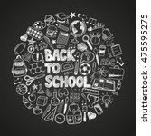 back to school   sketch doodle... | Shutterstock .eps vector #475595275