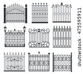 metal iron gates  grilles ... | Shutterstock .eps vector #475595911