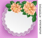 vintage background with dahlias ... | Shutterstock .eps vector #475599241