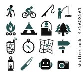 camp icon set | Shutterstock .eps vector #475603561