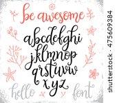hand written modern vector... | Shutterstock .eps vector #475609384