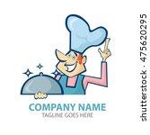 super chef logo vector... | Shutterstock .eps vector #475620295
