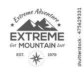 vintage logos mountaineer | Shutterstock .eps vector #475629331