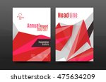 colorful geometry design annual ... | Shutterstock .eps vector #475634209