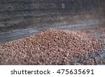 A pile of termite frass pellets on redwood boards