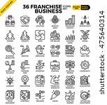 franchise business outline... | Shutterstock .eps vector #475640314