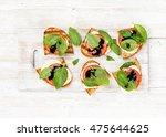 caprese sandwiches with tomato  ... | Shutterstock . vector #475644625