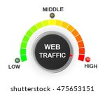 web traffic button position 3d... | Shutterstock . vector #475653151