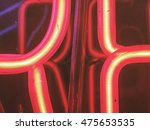 close up of a neon sign. | Shutterstock . vector #475653535