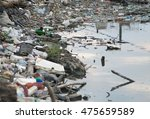River Bank Polluted With...